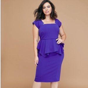🆕💙Lane Bryant- Berry Blue Peplum Dress